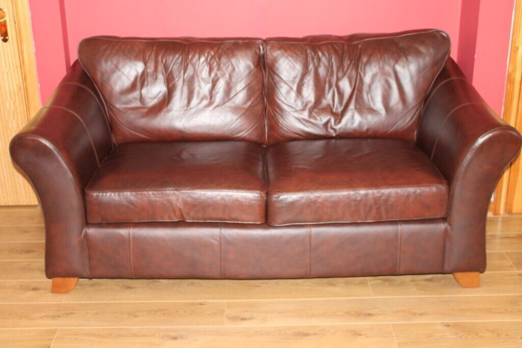 Marks & Spencer Abbey Fine Leather Sofa & Armchair | in ...