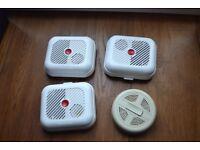 4 battery powered Smoke Alarms