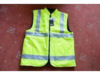 Padded Hi Vis Sleeveless Bodywarmer Jacket
