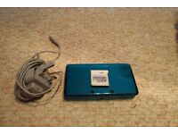 Nintendo 3ds with mario kart 7 and charger