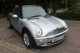 FROM £25 PER WEEK 2007 MINI CONVERTIBLE 1.6 PETROL MANUAL SILVER LOVELY LOW MILES FSH