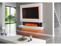 Fireplace custom made Media walls