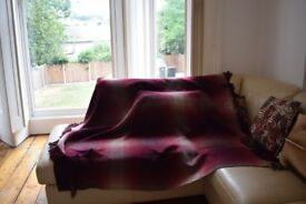 Hilltop F&A Hill large wool throw blanket £200