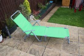 Adjustable garden folding chair