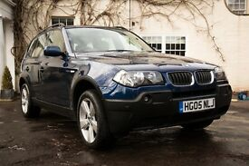 BMW X3 2.0D SPORT - LOW MILEAGE - BLUE - CREAM LEATHER - LOVELY CAR!