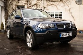 BMW X3 - LOW MILEAGE - BLUE - CREAM LEATHER - LOVELY CAR!