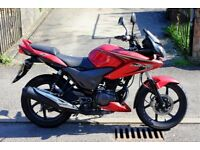 2013 Honda CBF125 Red With Only 2,300 Miles From New