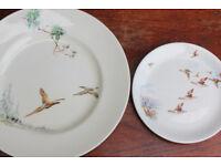 Vintage Bird Plates Royal Doulton & Alfred Meakin. Dinner Plate Side Plate Ducks Display
