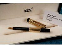 1920's Montblanc Fountain Pen 14K Gold - Mini