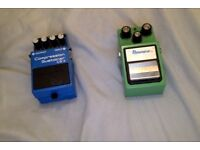 Ibanez Tubescreamer TS-9 and Compression sustainer CS-3