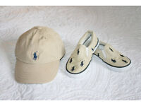 Polo by Ralph Lauren authentic Toddler Infant set: cap + sneakers size 7UK