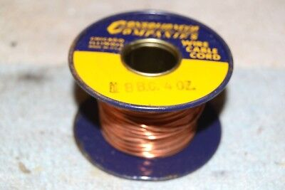 CONSOLIDATED WIRE CO NEW NOS 18BC BARE COPPER BUS BUSS AWG 18 SPOOL 4 oz (1/4lb)
