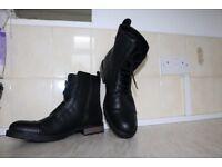 New men's H&M black boots