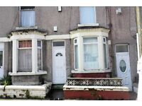 31 Harrowby Rd, Tranmere, Birkenhead. 2 bed terrace with GCH & DG, downstairs bathroom. LHA welcome