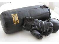 BOXITALIA SELETTI PUNCH BAG AND GLOVE SET - BLACK