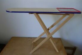 Ideal Playgroup / Play School / Nursery School: Children's Vintage Wooden Toy Ironing Board. Folds.