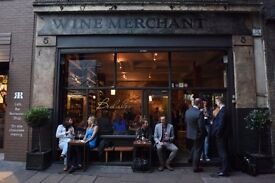 Experienced FOH for Busy Wine Bar & Wine Merchant