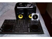 Pioneer DDJ-T1Controller system decks as new .twin speakers , curly cable ear phones , ideal for DJ