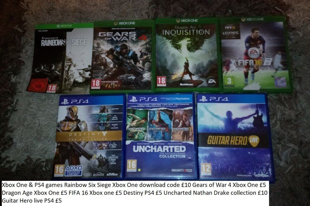 Xbox One and PS4 games Rainbow Six Siege Xbox One download code £10 Gears  of War 4 Xbox One £5 | in Telford, Shropshire | Gumtree