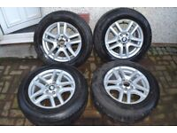 """BMW X5 17"""" WHEELS AND SNOW TYRES"""