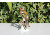 Vintage Ceramic Rosenthal 1651 Bird Figurine Finch / Fink 2 F Heidenreich 15.5cm German Mothers Day
