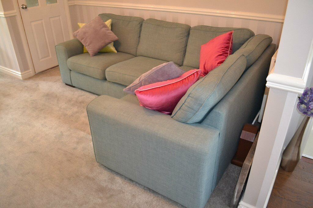 Corner Sofa - Oversized chair (With leg rest) - Foot stool - All cushions which appear in the photos
