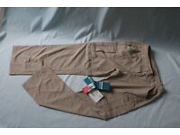 Mountain Warehouse walking beige lightweight zip off trousers/shorts size 10 stretch insect proof