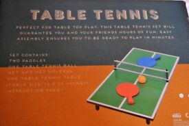 PORTABLE TABLE TENNIS WITH BATS, NET, BALL