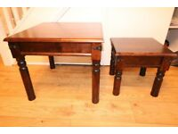 Beautiful set of 2 wooden coffee tables ¦ good condition ¦ iron fastenings ¦ CHEAP