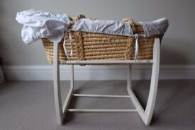 Mamas & Papas Moses basket - includes Rocking Stand worth £49 - great condition
