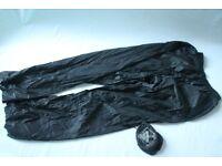 MOUNTAIN WAREHOUSE LADIES WATERPROOF BREATHABLE PAKKA OVER TROUSERS BLACK 10