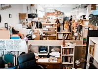 Heartspace: Fixed space in shared creative studio / artists / makers / Hackney / East London / E8