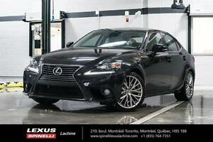 2014 Lexus IS 250 AWD GRP PREMIUM;CUIR TOIT CAMERA LOW MILEAGE -