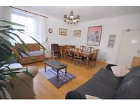 4 rooms available in really big central flat. Safe area. Wooden floors, wifi, views, bar.