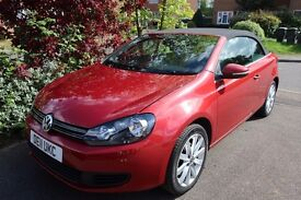 Volkswagen Golf Cabriolet SE 1.6 TDI Bluemotion Sunset Red - Sat Nav - HighSpec