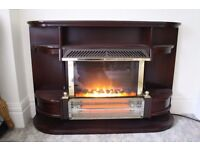 Freestanding Electric Fire and Surround.