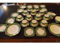 Vintage Tea Set 40 pieces - Taylor & Kent Longton Staffordshire - all in good condition