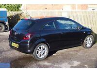 Vauxhall Corsa 1.2 SXI, Black, FSH, 11months MOT