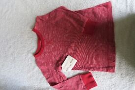 BRAND NEW boys Next Red T-shirt Age 2-3 yrs