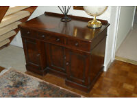 Antique Desk - 3 cupboards/ 4 drawer facility - Priced for quick sale - buyer collects