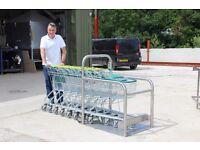 8 x Compact Shopping Trollies & Trolley Dock Station