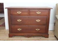 Solid mahogany vintage chest of drawers.