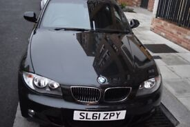 Black BMW 1 Series 2.0 116i 2011 3dr Manual Very Low Mileage 26,700 miles