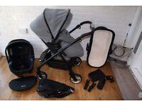 Silver Cross Wayfarer Special Edition Eton grey pram pushchair + car seat 3 in 1 CAN POST