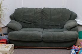 Much Loved Green 2-Seater Sofa