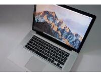Apple Macbook Pro (Late 2011), 15 inch, 2.2GHz Intel Core i7, 16GB RAM, 500GB SSD