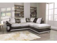 **ON SPECIAL OFFER** BRAND NEW MAX DIAMOND CRUSH VELVET CORNER SOFA OR 3+2