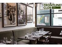 Assistant/Restaurant Manager The Frontline Club Paddington