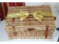 Regency Wickerwork hamper unused, unwanted present.