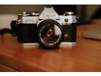 CANON AT-1 (mint condition) with 50mm 1.8 lens